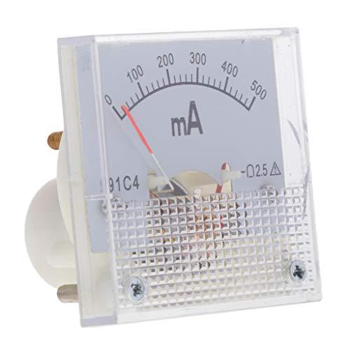 FLAMEER DC Analoges Panel Ampere Aktuellen Zähler Amperemeter Messgerät Stromzähler - 0-500 mA