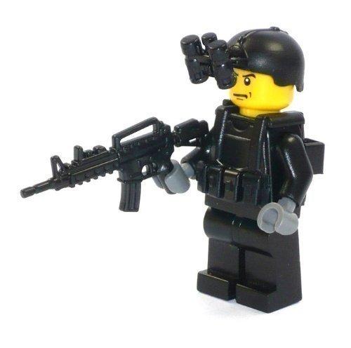 Unbekannt Custom Figurine Soldat Swat Unité Spéciale de Lego Pièces avec Custom Accessoire R1/R1/F4
