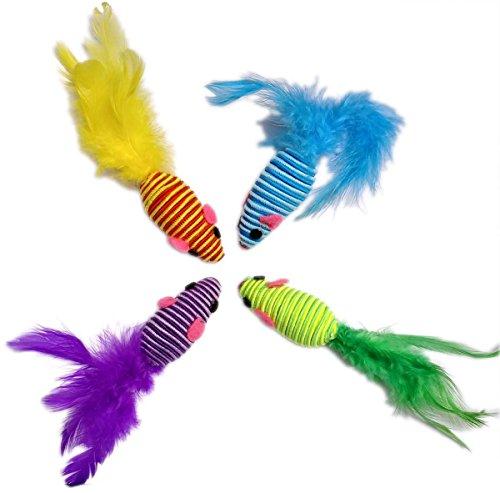 HDP Hypno Queue de souris avec plumes