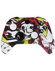 YUZI Silikonowa osłona gamepada z królową wzorem + 2 czapki joysticka kompatybilne z kontrolerem Xbox- One X S