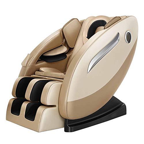 SillóN Masajeador SillóN De Relax Shiatsu SillóN La gravedad cero/lleno envoltura airbag cuerpo/operación LED/múltiples técnicas de masaje/libre de la instalación,Oro