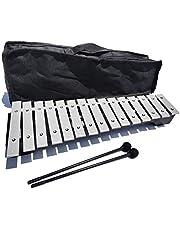 NECZXW1 15 Notas Glockenspiel Xilófono, Xilófono de Metal Profesional, Respetuoso con el Medio Ambiente y Duradero, Adecuado para escuelas y Estudios