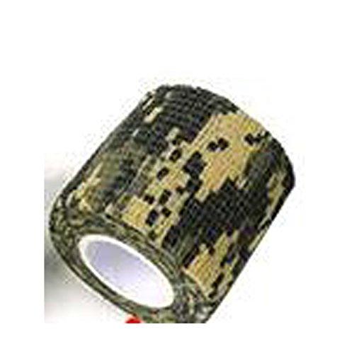 geo-versand 2 Stück 9 Meter - 2 x 4,5 Meter Camoflage Tape Tarnung Gewebeband selbstklebend Bundeswehr Tape Duct Tape Panzertape Gewehr Gewebe