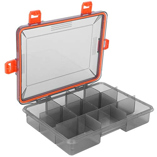 FOLOSAFENAR Aparejos de Pesca Caja de Almacenamiento de plástico de una Sola Capa Resistente al Agua Resistente, Pesca, Pescadores