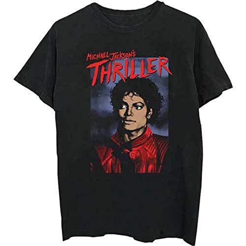Rockoff Trade Michael Jackson Thriller Pose Camiseta, Negro (Black Black), X-Large para Hombre