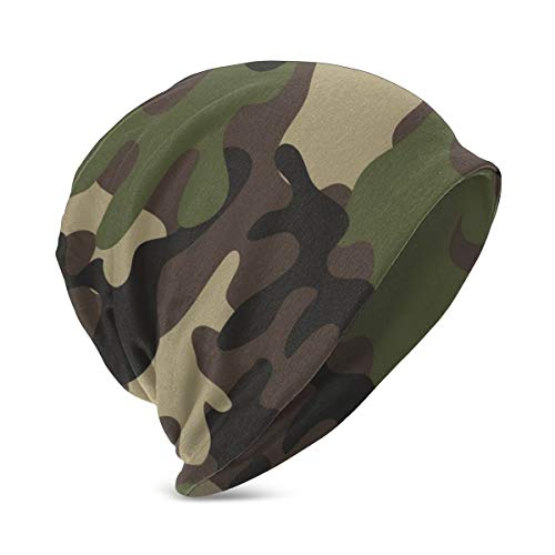 YongColer Slouchy Beanie Hat Gifts for Teen Girls Boys, Army Camouflage Earmuffs Hat Skull Cap for Jogging Outdoor & Home, Breathable Sleep Cap Multi-Functions Daily Hat