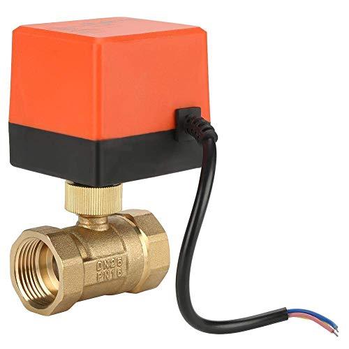 Grifos para Fregadero Grifo termostático de Ducha, válvula de Bola de latón motorizada DN25, Control de Flujo de válvula eléctrica de Control de 1 Alambre de 2 vías de 2 vías.