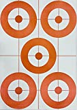 Son of a Gun Targets 25 5X Bullseye Sight in Paper Shooting Targets Gun, Pistol, Rifle, Airsoft, BB Gun Targets