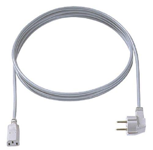 Bachmann 351.984 voedingskabel H05VV-F 3G0.75 2,0 m grijs 30/35 C13,