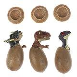 WWmily Juego de 3 huevos educativos de dinosaurio con una base...