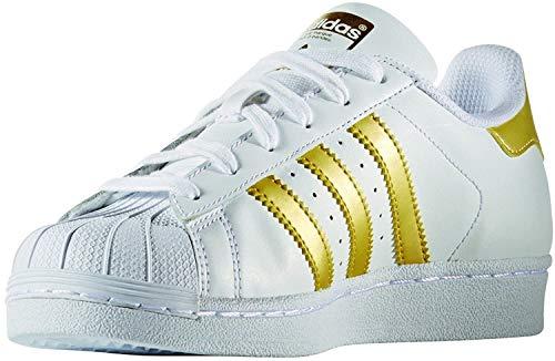 adidas Unisex Superstar J BB2870 Sneaker, Mehrfarbig (White 001), 36 2/3 EU