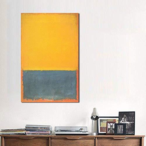 Karen Max Mark Rothko Pintura al óleo clásica de la vida muerta muerta en lienzo para sala de estar, cuadros modernos para obras de arte, regalos de nuevo hogar, sin marco (101,6 x 152,4 cm)