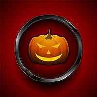 Qinunipoto 背景布 ハロウィン happy halloween 撮影用 写真撮影用 かぼちゃ 赤の背景 ハロウィン様式 撮影道具 ファンション撮影 自宅用 商業用 デコレーション 写真ブース撮影 小道具 ビニール 3x3m