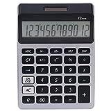 TYJKL Calculadora electrónica Calculadora de Escritorio Calculadora electrónica con 12 Gran Pantalla Solar Pantalla LCD Color al Azar para la Escuela de Negocios Oficina (Color : Silver)