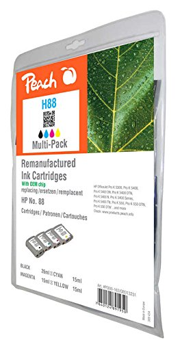 Paquete Combinado de Peach Compatible con HP No. 88