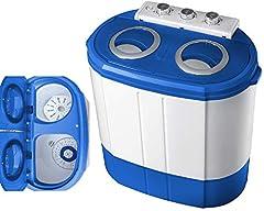 Mini tvättmaskin med slangbella | 2 Kammare | Tvättmaskin upp till 3 KG | Slangbella kammare upp till 1 Kg | Resor tvättmaskin | Mini tvättmaskin | Camping Mobil Tvättmaskin | Överlastare