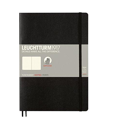 LEUCHTTURM1917 349298 Notizbuch Composition (B5), Softcover, 123 nummerierte Seiten, dotted, Schwarz
