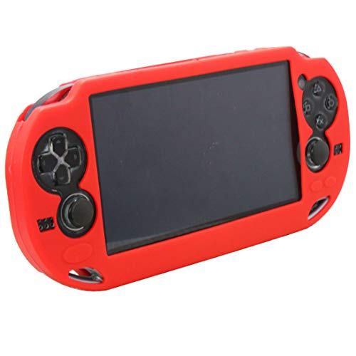SNNC Playstation Vita 1000 Silicon Full Cover Skin Protector Case for PSV1000 (Red)