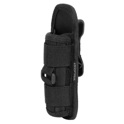 AIRSOFTPEAK Flashlight Pouch Holster Carry Case Holder with 360 Degrees
