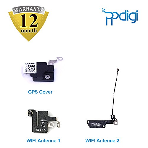 PPdigi WiFi WLAN Antenne GPS Cover für iPhone 7 Bluetooth Signal Modul Flexkabel Verstärker (iPhone 7, WiFi Antenne+GPS Cover Set)