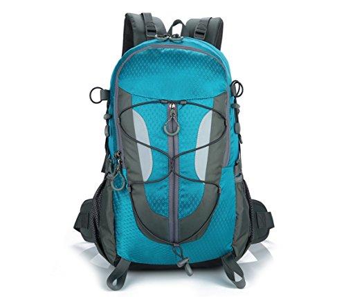 Lily's Locker - Mujer y Hombre 30L Mochila con Múltiples Almacenamiento Compartimiento para Senderismo Camping Viajes Montañismo Trekking o Escuela 29 x50 x18CM (Azul)