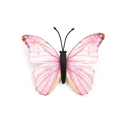 COLORFULTEA Broche De Mariposa Colorida Broches De Alfiler De Tela Mariposa Etérea Fucsia 60 Mm X 55 Mm