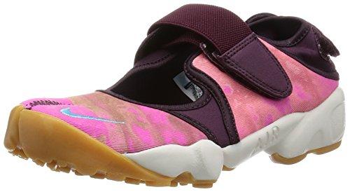 Nike Wmns Air Rift PRM QS, Zapatillas de Deporte para Mujer, Rojo (Merlot/Omega Blue-Summit White), 36 1/2 EU