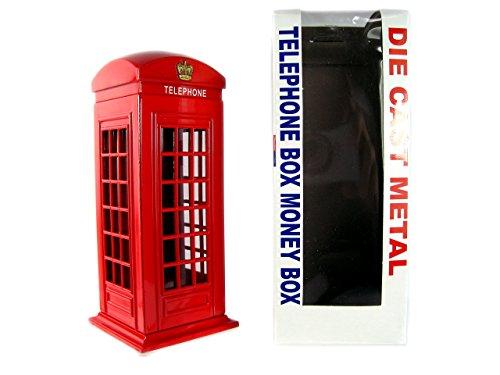 Money Boxes Spardosen 784311757517 Telefonzelle aus Druckguss, London Sammlerstück Souvenir, metallisch rot