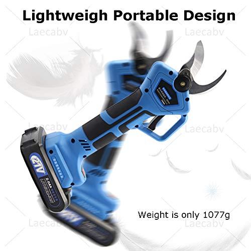 Review Laecabv Electric Branch Cutter Scissors 21V Li-ion Battery 32mm Cutting Nonslip Handle Garden...