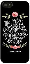 iPhone X Flowers Case,Roses Floral Girls Women Cute Motivational Inspirational Exodus 14:14 The Lord Will Fight for You Be Still Bible Verse Scripture Quotes Black Rubber Case for iPhone X