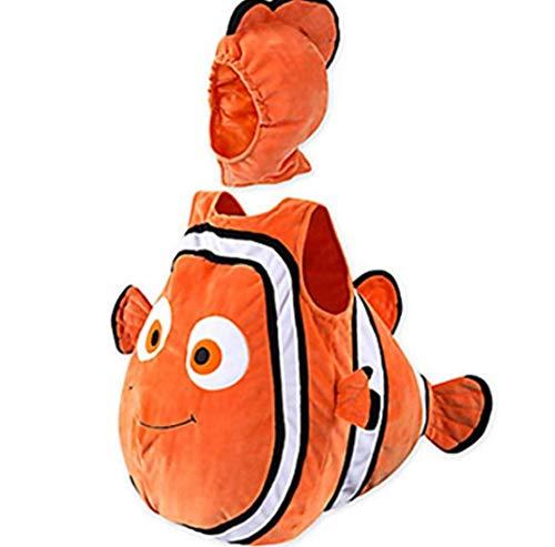 ZYLL Set de 2 Piezas de Traje de pez Payaso para bebé Niños Mar Animales Cosplay de pez Payaso,100CM