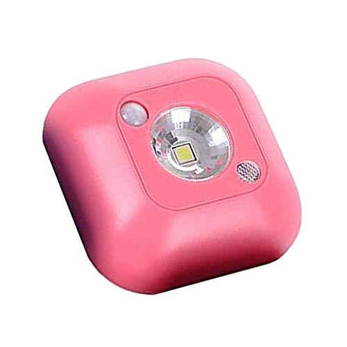 #N/a Sensor LED de luz nocturna de movimiento infrarrojo Auto encendido y apagado de la batería del armario para la decoración de la escalera del gabinete - Rojo