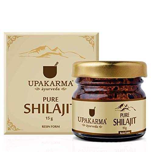 Upakarma Pure Ayurvedic Raw Shilajit/Shilajeet Resin - 15 Grams - Pack of 1