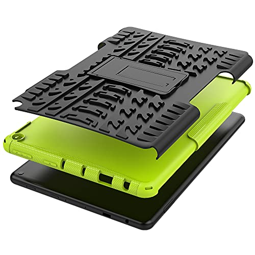 Cover for Fire HD 10 & Fire HD 10 Plus 2021 (for 11th Generation Tablet, 2021 Released) , Armored Hybrid Protective Case with Kickstand (Green)