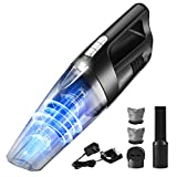 Holife Cordless Handheld Vacuum, 6KPA Hand Vac with LED Light Stronger Powerful Motor