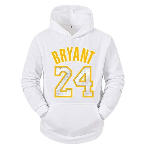 Herren und Damen Basketball Hoodie,Lakers 24# Kobe Bryant Basketball Hooded Pullover Loose Sweatshirt,Unisex Basketball Shirt Langarm T-Shirt Fans Sportswear Trikots (S-XXXL)