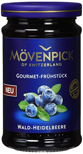 Mövenpick Gourmet-Frühstück Wald-Heidelbeere, Fruchtaufstrich, 8er Pack (8 x 250 g)