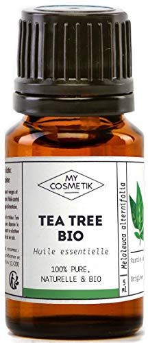 Huile essentielle de Tea Tree (Arbre à Thé) Bio AB - 100% pure et naturelle HEBBD - MyCosmetik - 10 ml