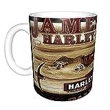 Tazza da caffè in ceramica con scritta 'Merry Holidays' di Harley Davidson, divertente tazza da caffè, 325 ml