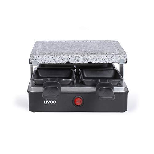 LIVOO Feel good moments - Appareil à raclette 4 personnes DOC242 Noir