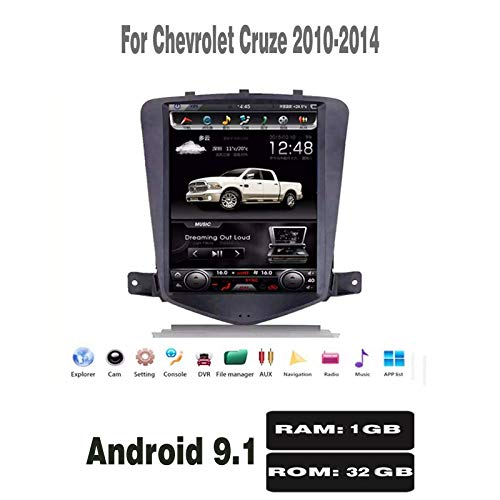 Tesla Style Android 9.1 (1+32) G Car DVD Player Navigation for Chevrolet Cruze 2010-2014