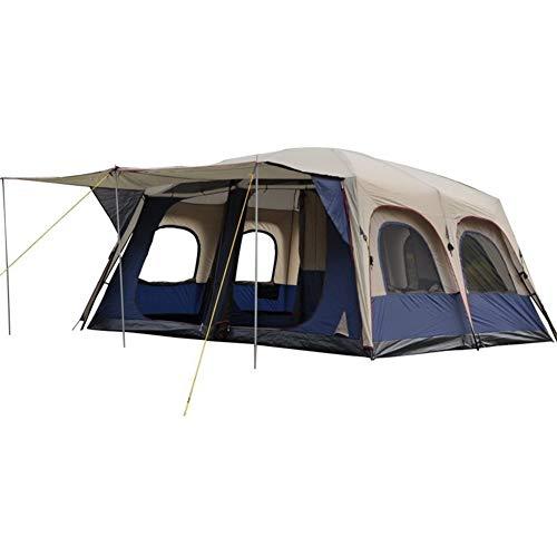 KSW_KKW 6-10-Personen-Zelt for Camping |Zelt mit Easy Setup, Multi-Personen-Double Deck, Vier Jahreszeiten Zelt, Größe (L * B * H cm): 460 * 360 * 215cm