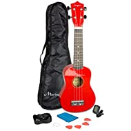 QUALITY - Crafted from wood and featuring chrome gear heads the 312 is a full size soprano ukulele that is designed to last ACCESSORIES - The 312 Ukuele starter kit features a strap, spare strings, gig bag and tuner making the ideal beginner ukulele ...