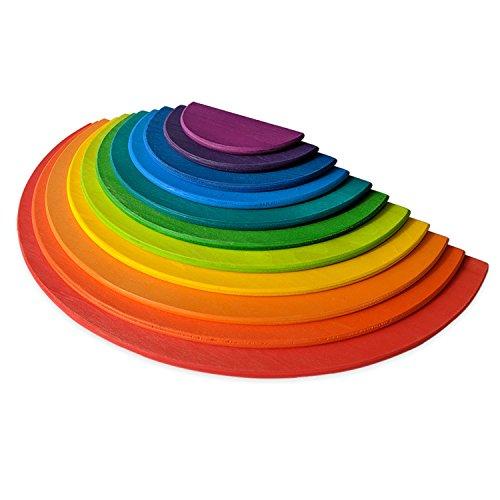 Piezas con diseño de arcoiris para apilar
