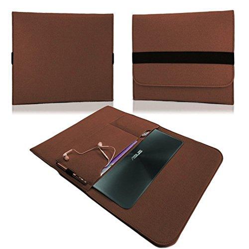 NAUC HP EliteBook Folio G1 12,5 Zoll Tasche Hülle Filz Sleeve Schutzhülle Hülle Cover, Farben:Braun