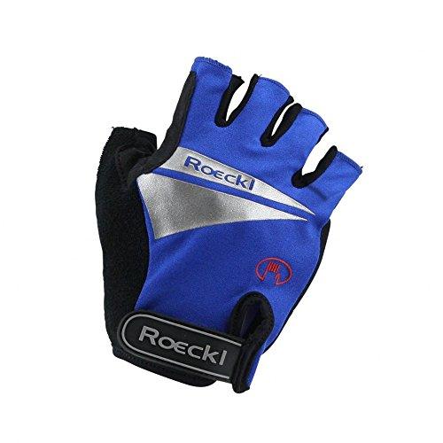 Roeckl MTB Sommer Radhandschuhe Kurzfinger Blau Schwarz 1278, Größe:10 1/2