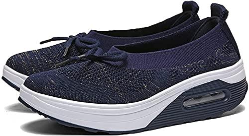 YYDS Zapatos ortopédicos para Caminar para diabéticos para Mujeres, Zapatos ortopédicos para Enfermeras de Trabajo Antideslizantes y Transpirables, Zapatillas con colchón de Aire (Azul,41)
