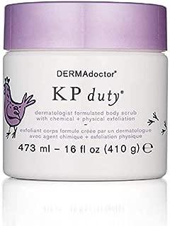 KP Duty Dermatologist Formulated Body Scrub by DERMAdoctor for Women - 16 oz Scrub