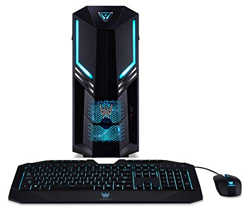 Acer Predator Orion 3000 PO3-600 Gaming PC - (Intel Core i5-9400F, 16GB RAM, 256GB SSD and 2TB HDD, Nvidia GeForce RTX 2060, DVD/RW, Predator Keyboard and Mouse, Windows 10, Black)