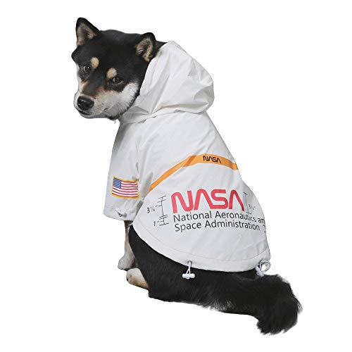ChoChoCho Pet Clothing Reflective Raincoat Water Proof NASA US Flag Stylish Streetwear Outfit for Dog Cat Puppy Small Medium Large (M)